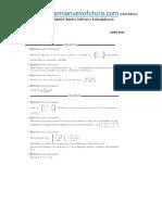 Examen Matematicas II Selectividad UNED Extranjeros Junio 2014 Enunciado y Solucion