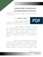 EugeniaFreire - Constitucionalidade Da Advocacia Privada  Do Procurador Do Estado