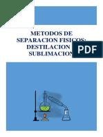 Destilacion y Sublimacion