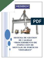 Hein-pro-011 Procedimiento de Inspeccion de Montaje de Porticos Visitables
