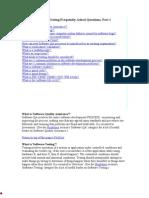 Software Testing FAQ
