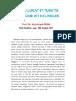 Abdulkadir Inan - Divanu Lugatit Turkte Samanizme Ait Kelimeler