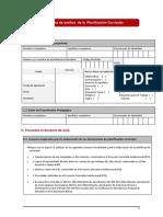 Ficha de Análisis de La Planificación Curricular