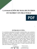 Conservación de Masa de Fluidos en Matriz y Fractura Diapositivas S y A