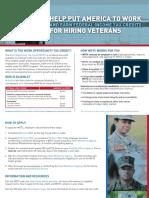 Employers WOTC  Veterans (Hire American!)