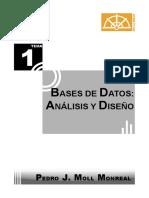 1tema Bases de Datos- Análisis y Diseño Pedro j. Moll Monreal 2014-2015