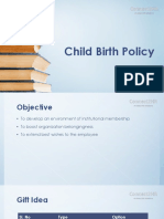 Child Birth Policy