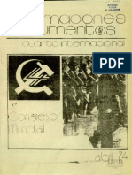 Cuarta Internacional Documentos X Congreso 1974 Abril