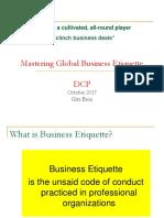 Mastering Business Etiquette