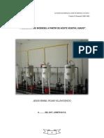 Generación de Biodiesel