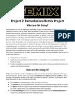 project 2  remediation remix  assignment sheet
