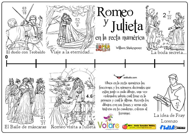 01 Romeo Y Julieta En La Recta Numérica