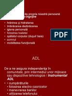 Terapie Ocupationala ADL