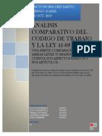 Analisis Comparativo Del Codigo de Trabajo y La Ley 41