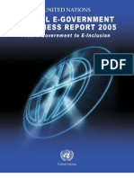 UN Global E-Government Readiness Report 2005 - From E-Government to E-Inclusion