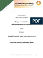 Unidad_2. Tecnologia Para El Desarrollo Comunitario