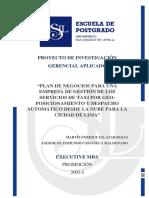 2003 Salazar Plan de Negocios Para Una Empresa de Gestión de Los Servicios de Taxi Por Geo Posicionamiento y Despacho Automático Desde La Nube Para La Ciudad de Lima