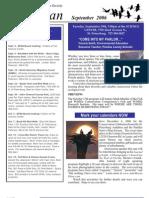 Sept 2006 Wingspan Wingspan Newsletter St. Petersburg Audubon Society