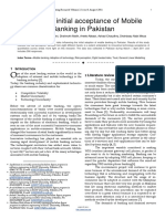 Trust and Initial Acceptance of Mobile Banking in Pakistana