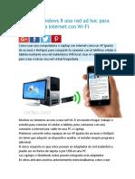 Crear en Windows 8 Una Red Ad Hoc Para Conectarse a Internet