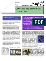 Nov 2008 Wingspan Newsletter St. Petersburg Audubon Society