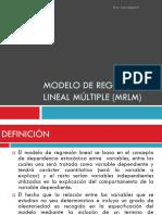 Modelo de Regresión Lineal Múltiple (MRLM)