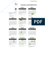 Calendario Laboral Madrid 2018 PDF