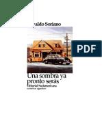 Soriano Osvaldo - Una Sombra Ya Pronto Seras