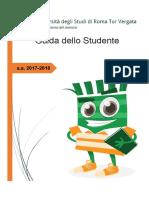 Università Tor Vergata Guida Dello Studente 2017/2018
