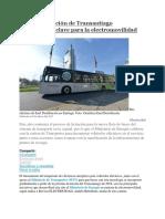 201703 Licitación de Transantiago Oportunidad Clave Para La Electromovilidad