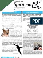 Summer 2010 WingspanWingspan Newsletter St. Petersburg Audubon Society