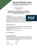 3.01 Memoria Descriptiva Proyecto Pavimentacion Pedregal
