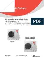 MS-PRC024A-EM Catalogo Producto Multi Split Inverter Trane