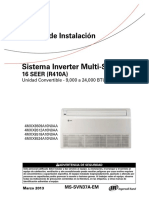 MS-SVN37A-EM Manual Instalacion Piso Techo Multi Split Inverter Trane