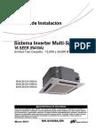 MS-SVN36A-EM Manual Instalacion Cassette Multi Split Inverter Trane