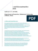 Modernism and Deconstructive Desituationism