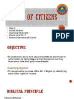 Step 4 Social Studies Rights of Citizens