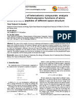 Thermochemistry of Heteroatomic Compounds Analysis and Calculation of Thermodynamic Functions of Amino Acids and Some Peptides of Different Space Structure - Vitaly Vitalevich Ovchinnikov