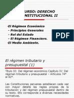 Derecho ConstitucionalII El Regimen Economico NovenaSemana