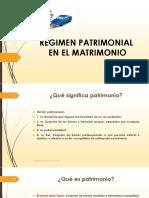 SESION 5 Régimen Patrimonial en El Matrimonio