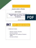 Aula Imposto de Renda Julia de Menezes Nogueira