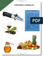 Calibracion Mantemiento y Limpieza de Refractometros