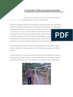 Desarrollo Comunitario de Gusanos Tubifex Para Apoyar La Acuicultura