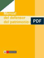PERÚ, MINISTERIO DE CULTURA Manual  de Defensores del Patrimonio Cultural.pdf