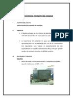 INFORME LABORATORIO - Determinacion Del Contenido de Humedad