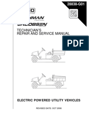 2004 Ez Go MPT 800 1000 Electric Manual | Vehicles | Battery