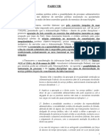 Parecer - Instauração de PAD - Ex servidor.odt