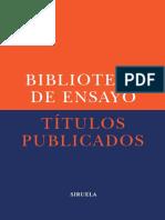 SIRUELA - Catalogo Ensayos