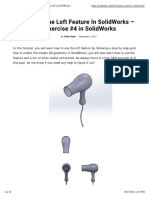 Using the Loft Feature in SolidWorks - Exercise #4 in SolidWorks - CAD Mode