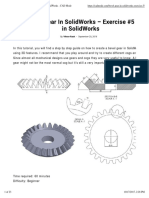 Bevel Gear in SolidWorks - Exercise #5 in SolidWorks - CAD Mode